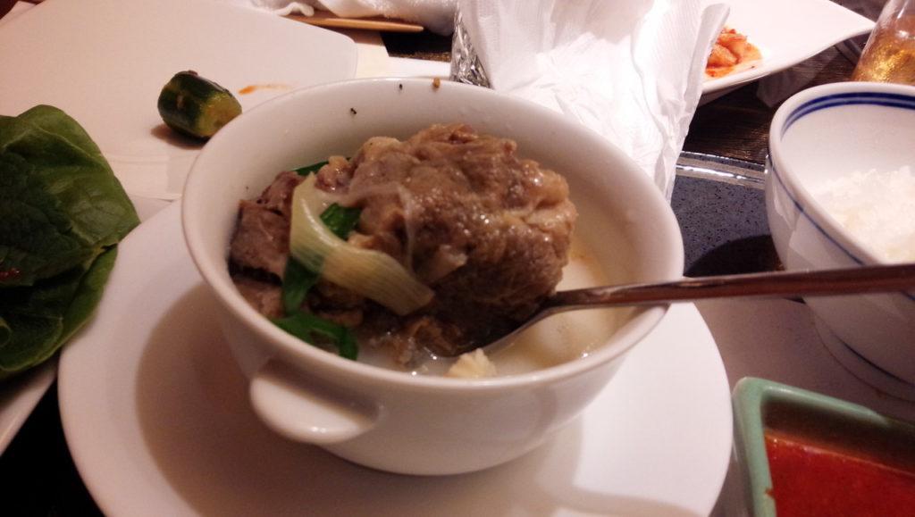 叙々苑 游玄亭 コムタンスープ